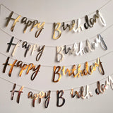 Happy birthday banner garland (lettering)
