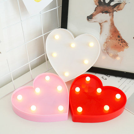 Remote control heart shape light