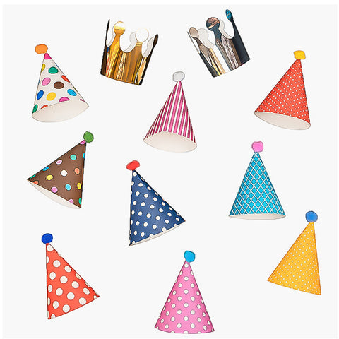 11 pcs Party hats for birthday parties