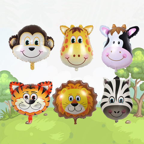 Animal Safari Theme Foil Balloon