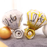 Wedding Balloons Diamond Ring Lips Foil Balloon Wedding Decorations