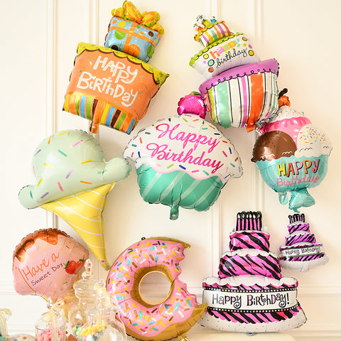 Cake Donut Ice cream Birthday Party Foil Balloon