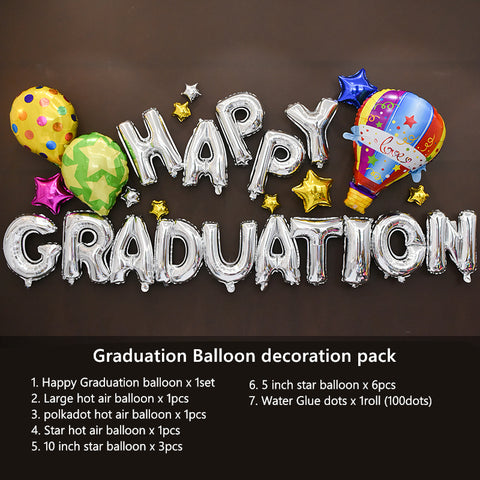 Graduation Hot Air Balloon Decoration Pack