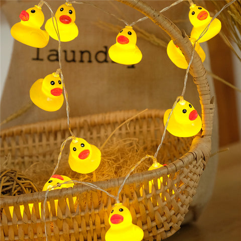 Yellow duck lights wedding party birthday decoration