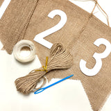 Linen Fabric DIY Customised Banner for birthday wedding party events