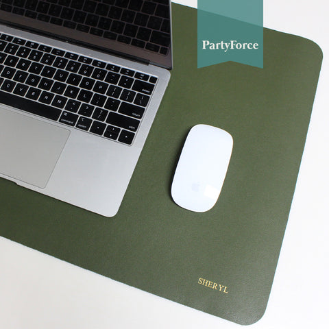 Customised Personalised Desk Pad, Office Desk Mat, PU Leather Desk Blotter, Laptop Desk Mat, Waterproof Desk