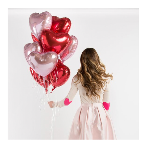 Valentine's Heart Helium Balloon Bouquet