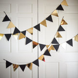 Black Gold Triangle bunting.