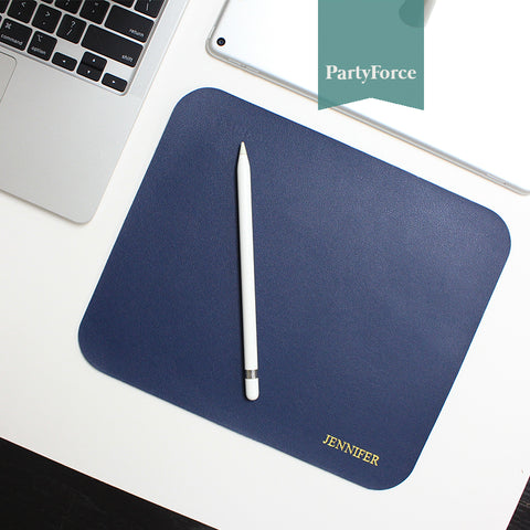 Customised Personalised Mouse Pad waterproof PU leather Mouse Pad
