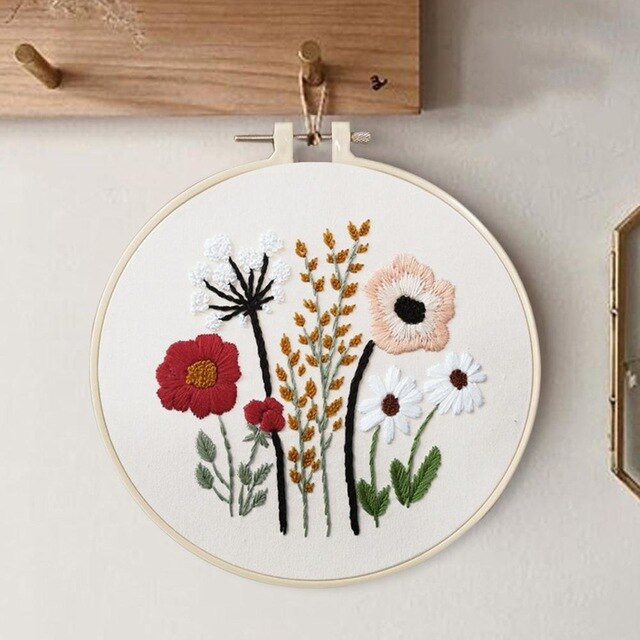 DIY Embroidery Set for Beginners with instructions
