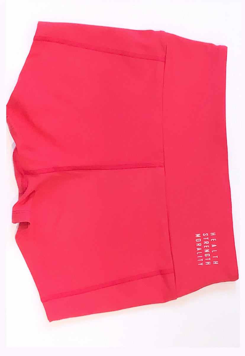 Eve - Coral Pink Shorts