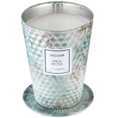 Voluspa Milk Rose Large Two Wick Candle