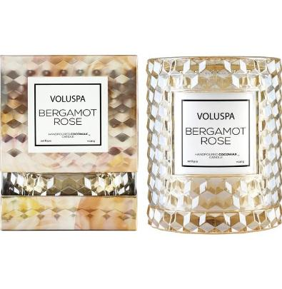Voluspa Bergamot Rose Cloche Covered Candle