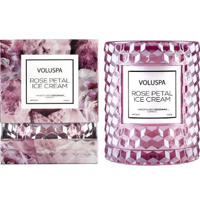 Voluspa Rose Petal Ice Cream Cloche Candle