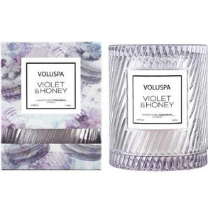 Violet & Honey Cloche Candle