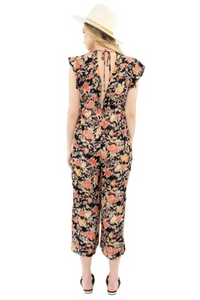 Ruffle Sleeve Jumpsuit Floral