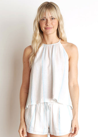 Button Halter Top
