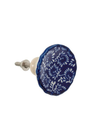 Indigo Bloom Knob