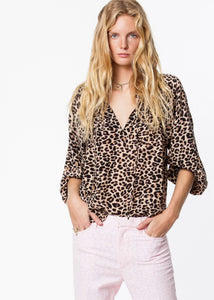 Theresa Print Leo Blouse