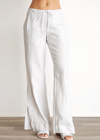Pleat Front Side Split Pant