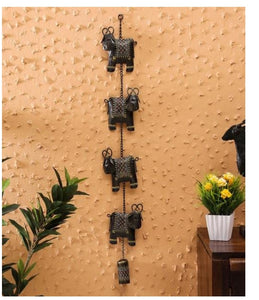 Handcrafted cow bell hanging wall decor
