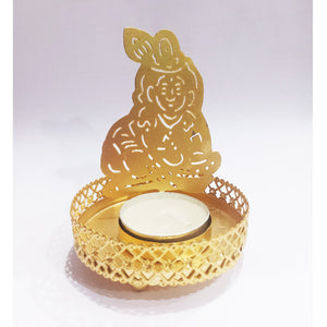 Makhan Krishna metal tea light holder