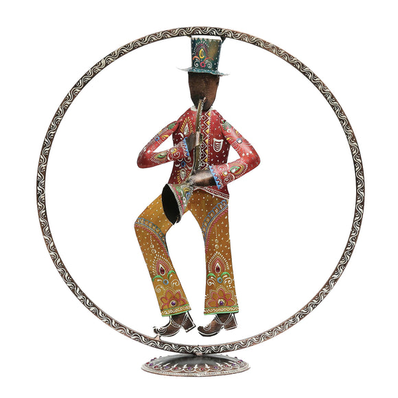 Metal Multicolour Figurine Table Decor