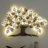 Metal Golden Decorative Tree Wall Art
