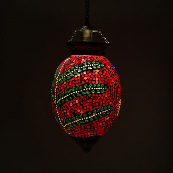 Red mosaic glass love pendant ceiling lamp