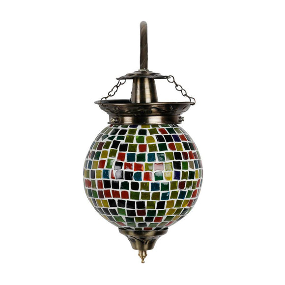 Beautiful square beads mosaic wall lamp
