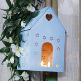 Blue Metal Bird House (Tree Mounting)