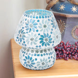 Blue glass traditional mosaic table lamp