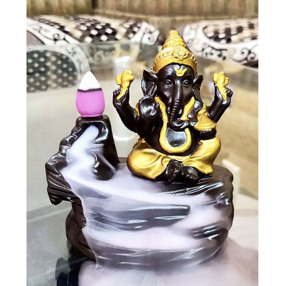 Lord Ganeshji Incense Burner Decorative Showpiece