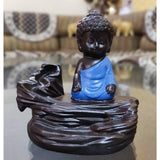 Polyresin monk buddha incense burner showpiece