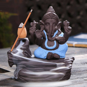 Polyresin blue ganesh incense diffuser