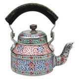 Grey aluminium tea kettle showpiece