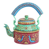 Aluminium peacock tea kettle showpiece