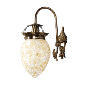 Beautiful yellow mosaic wall lamp