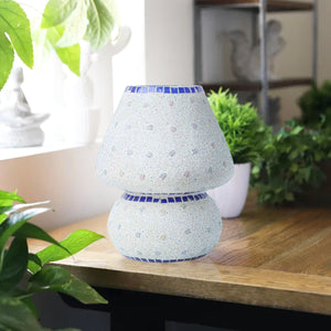 Colourful Mosaic Glass Earth Table Lamp
