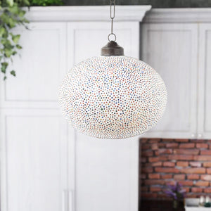 Multicolour glass bindis ceiling pendant lamp