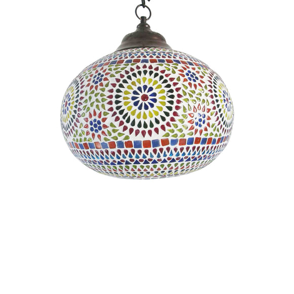 Multicolour glass hanging traditional ceiling lamp