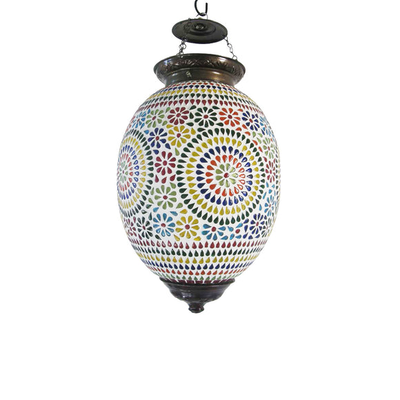 Mosaic multicolour ceiling pendant lamp
