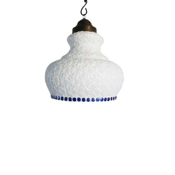 White Ethnic hanging pendant lamp