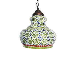 Multicolour flower hanging pendant lamp