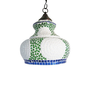 Colourful glass ceiling pendant lamp