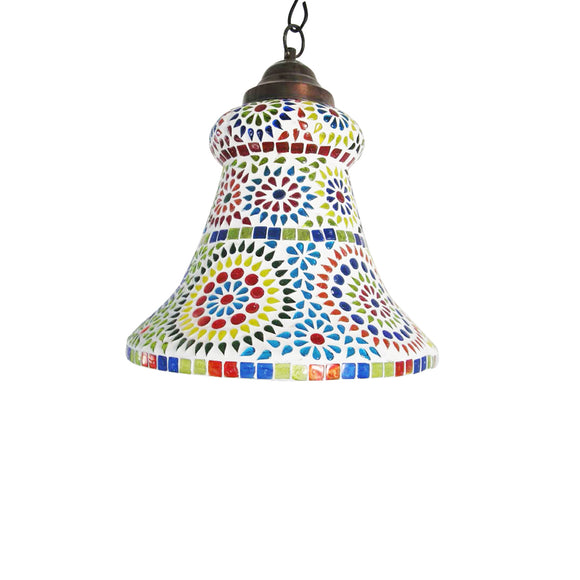 Multicolour bell shape pendant lamp