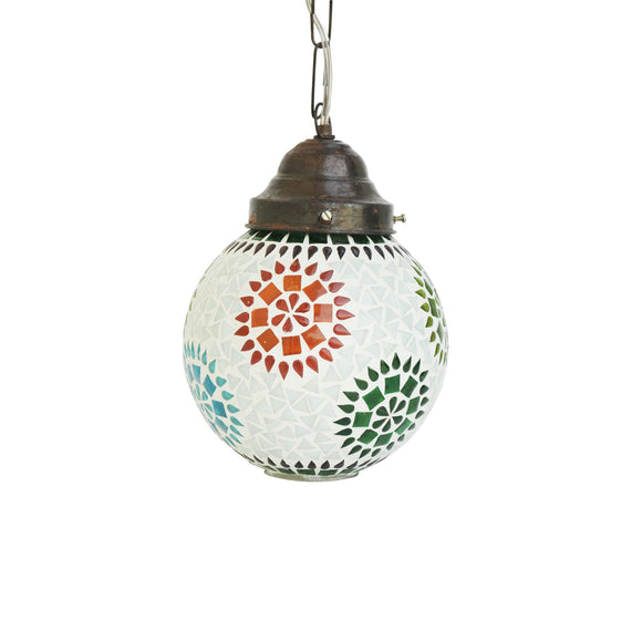 Multicolour glass mosaic handmade ceiling pendant lamp