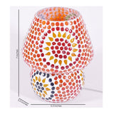 Orange mosaic glass kala kriti table lamp