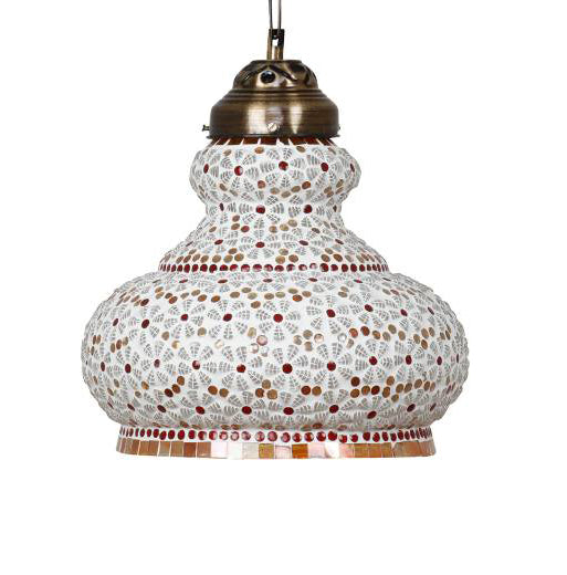 Golden glass handi ceiling pendant lamp