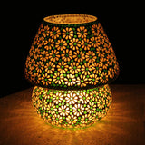 Multicolour mosaic glass kaliedoscopic table lamp